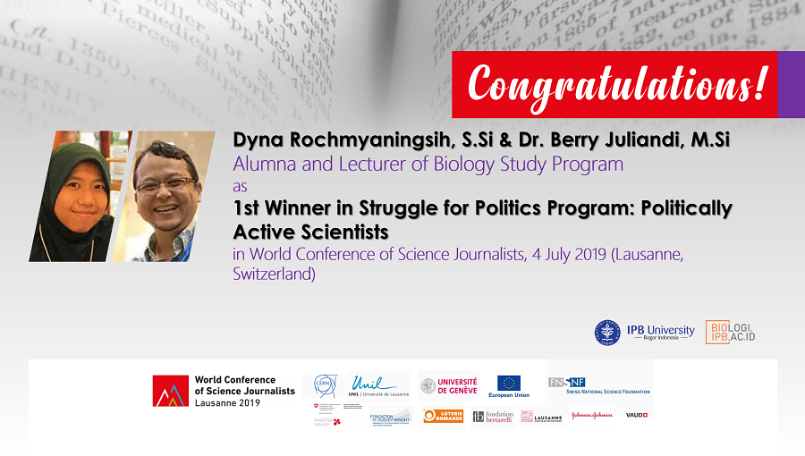 1st Winner in Struggle for Politics Program: Politically Active Scientists
