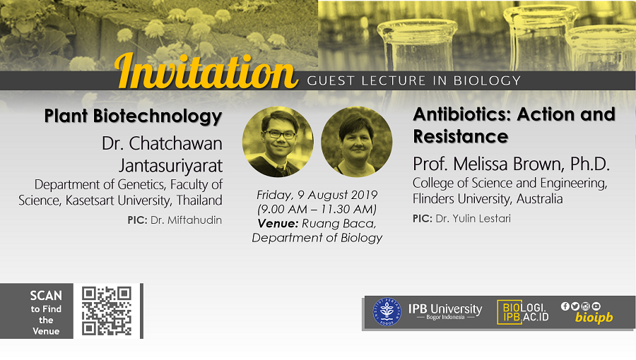 Invitation: GUEST LECTURE IN BIOLOGY