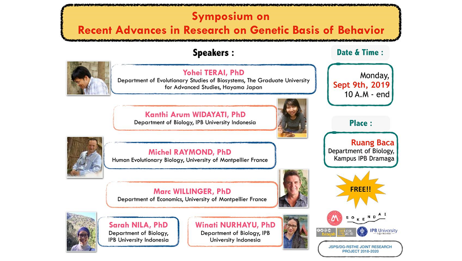 Symposium on Recent Advances on Genetic Basis Behavior