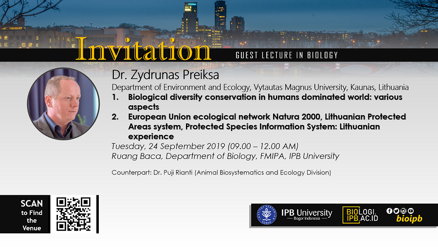 Guest Lecture: Dr. Zydrunas Preiksa (Lithuania)
