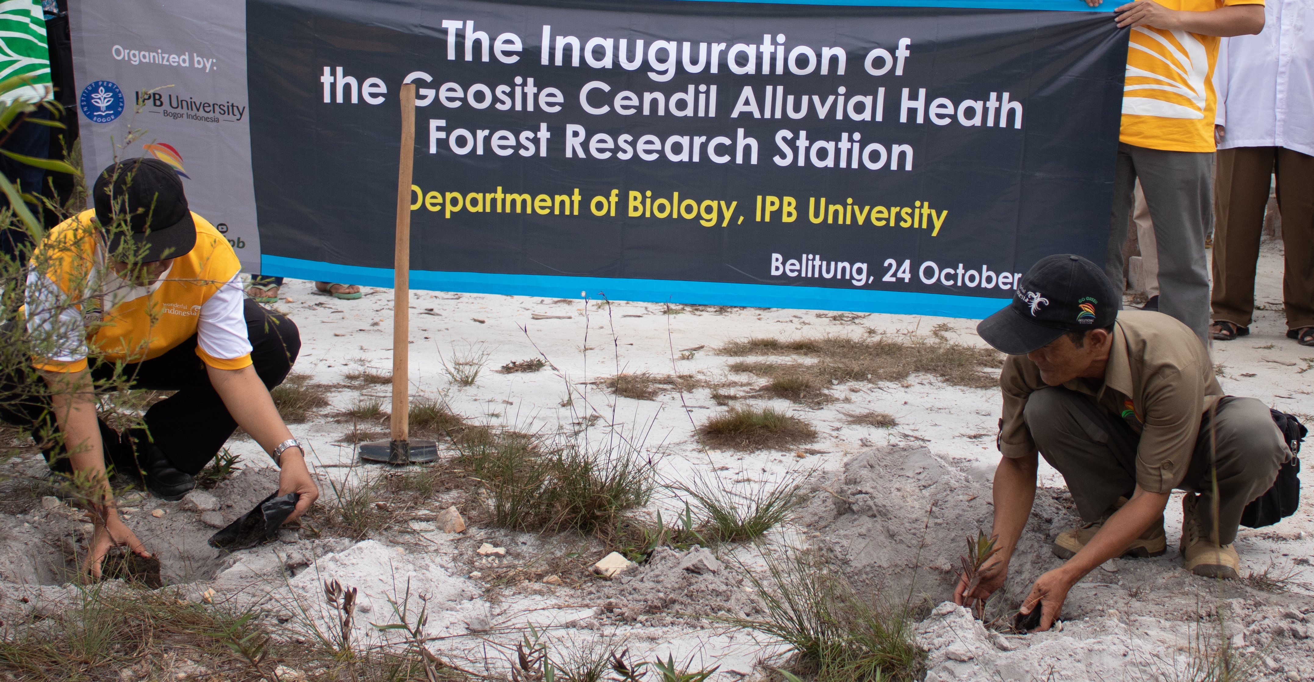Department of Biology IPB, Inaugurates 2 Field Research Stations in Belitung