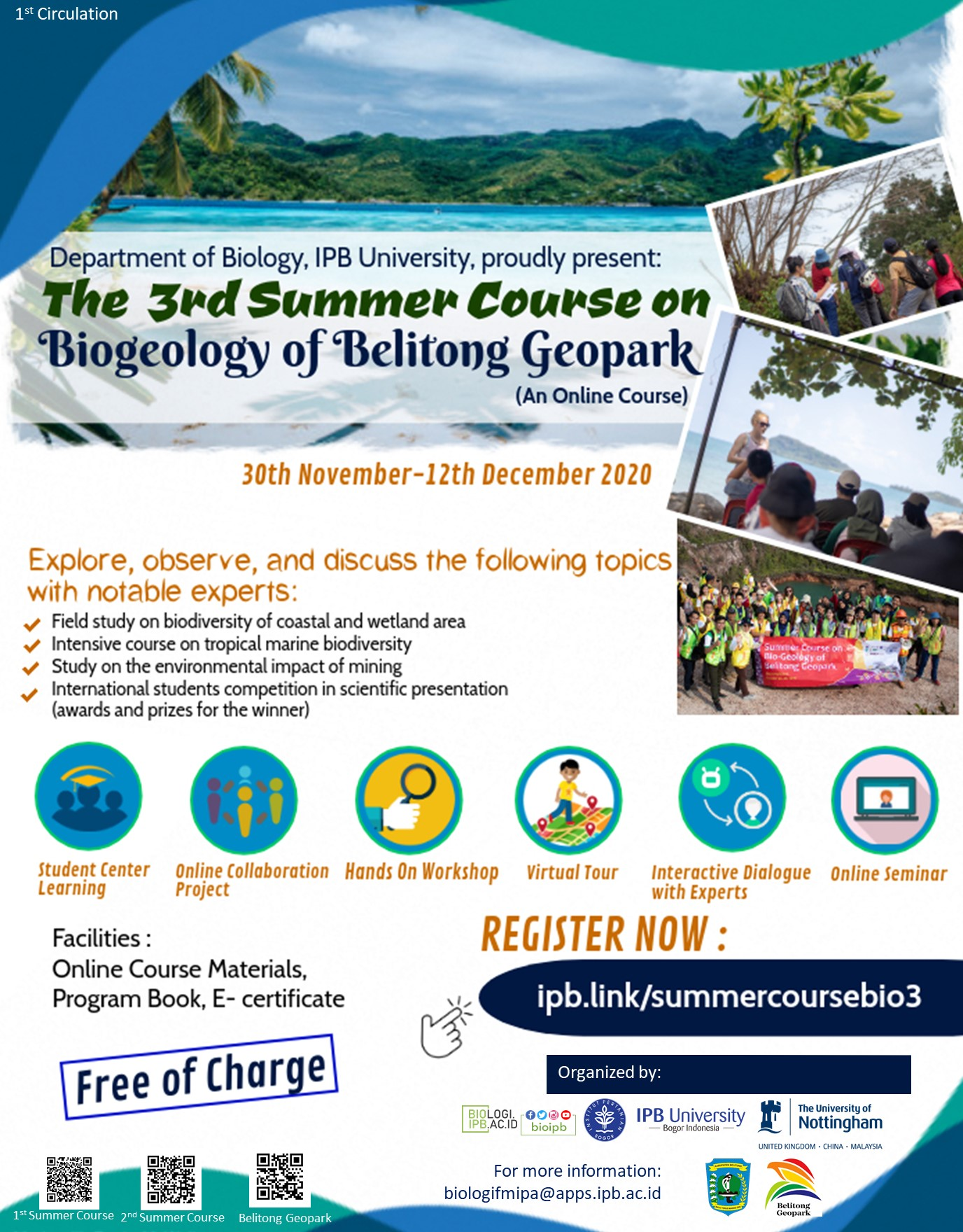 The 3rd Summer Course on Biogeology of Belitong Geopark